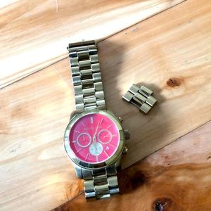 Michael Kors Watch with Orange Face